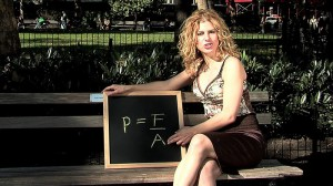 Debbie Berebichez pic on bench