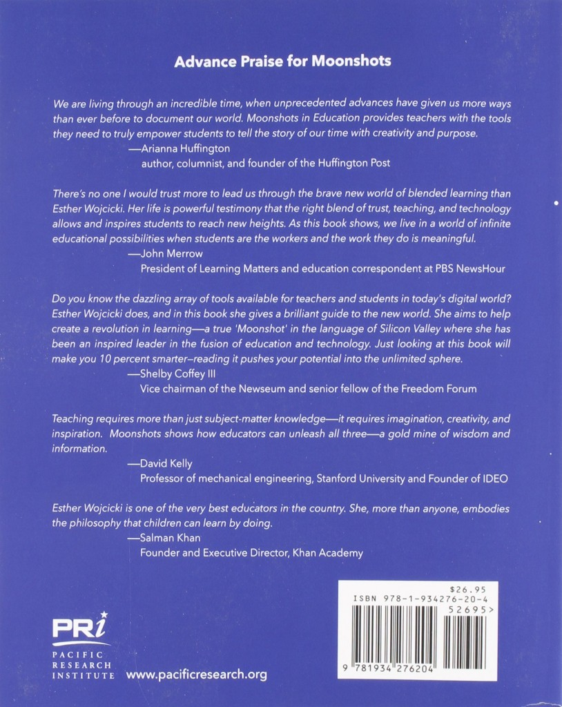Esther Wojcicki Moonshots back cover